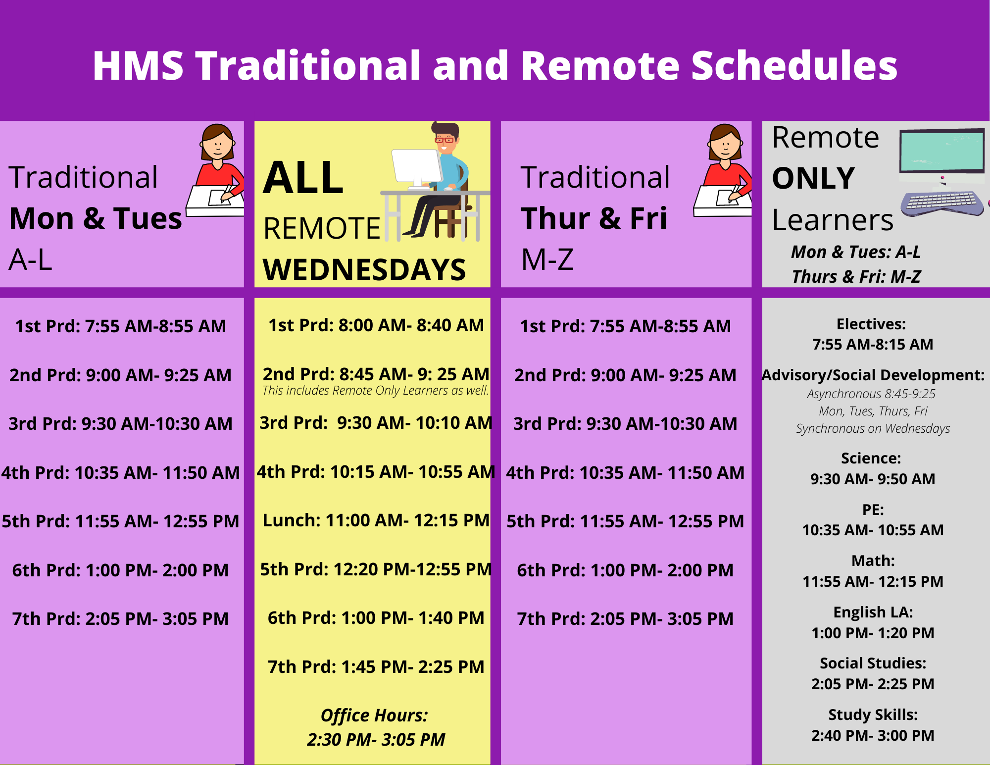 HMS Traditional and Remote Schedules