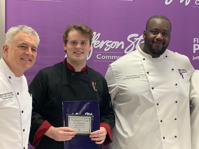 Logan Muir, Culinary Student, Wins 1st Place at Navigator's Cup