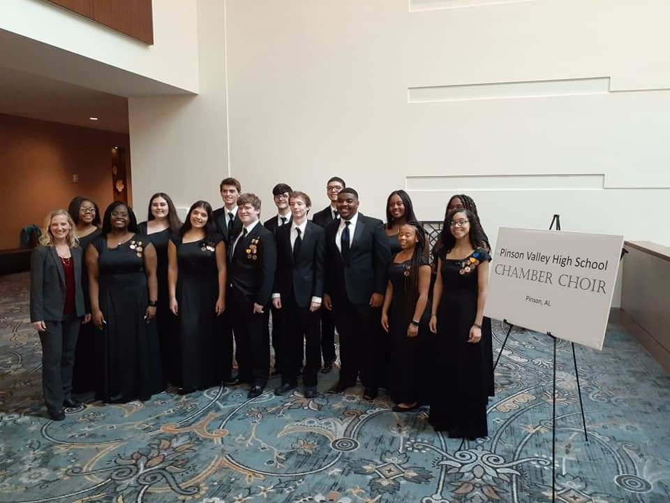 PVHS Chamber Choir sings for the Alabama Music Educators Association in Montgomery. First time PV Ch